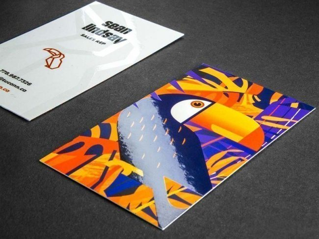 Spot UV Business card printing