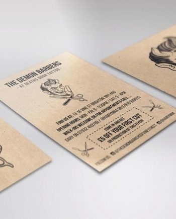 Kraft business cards printing brighton