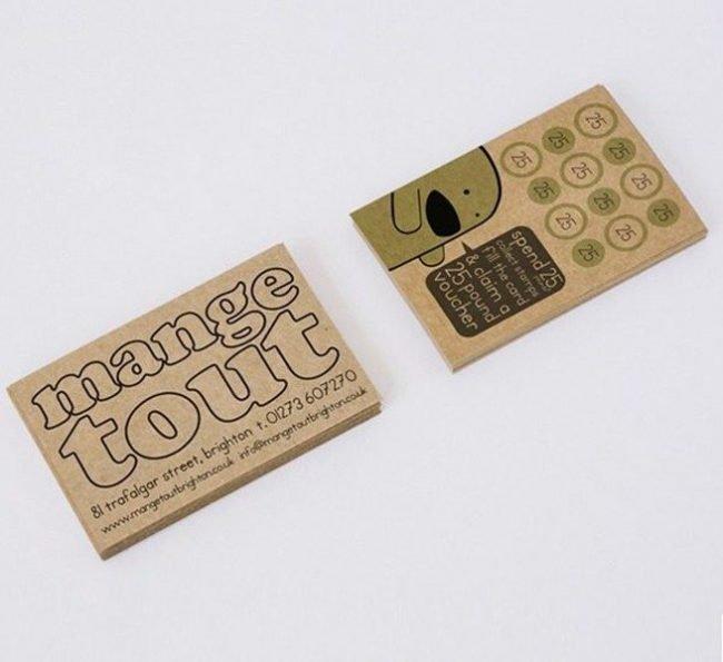 kraft business card printers