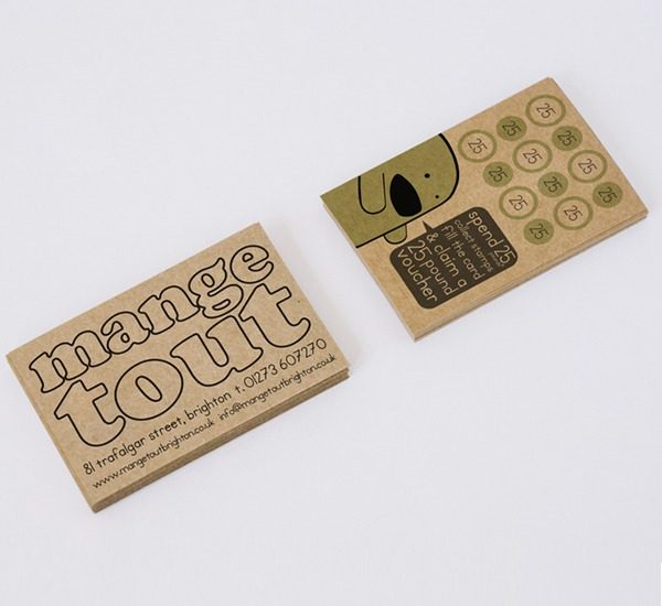 mange tout brighton loyalty cards