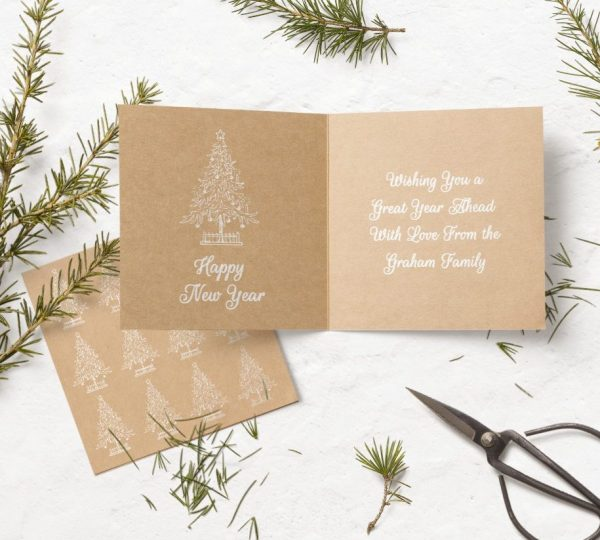 kraft card greetings card