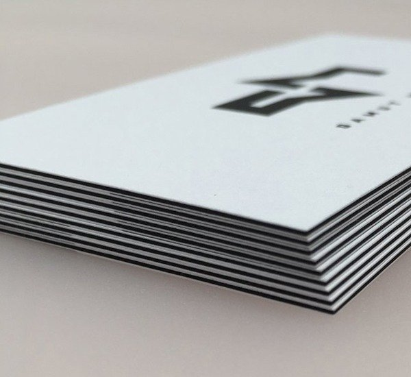 black core business card