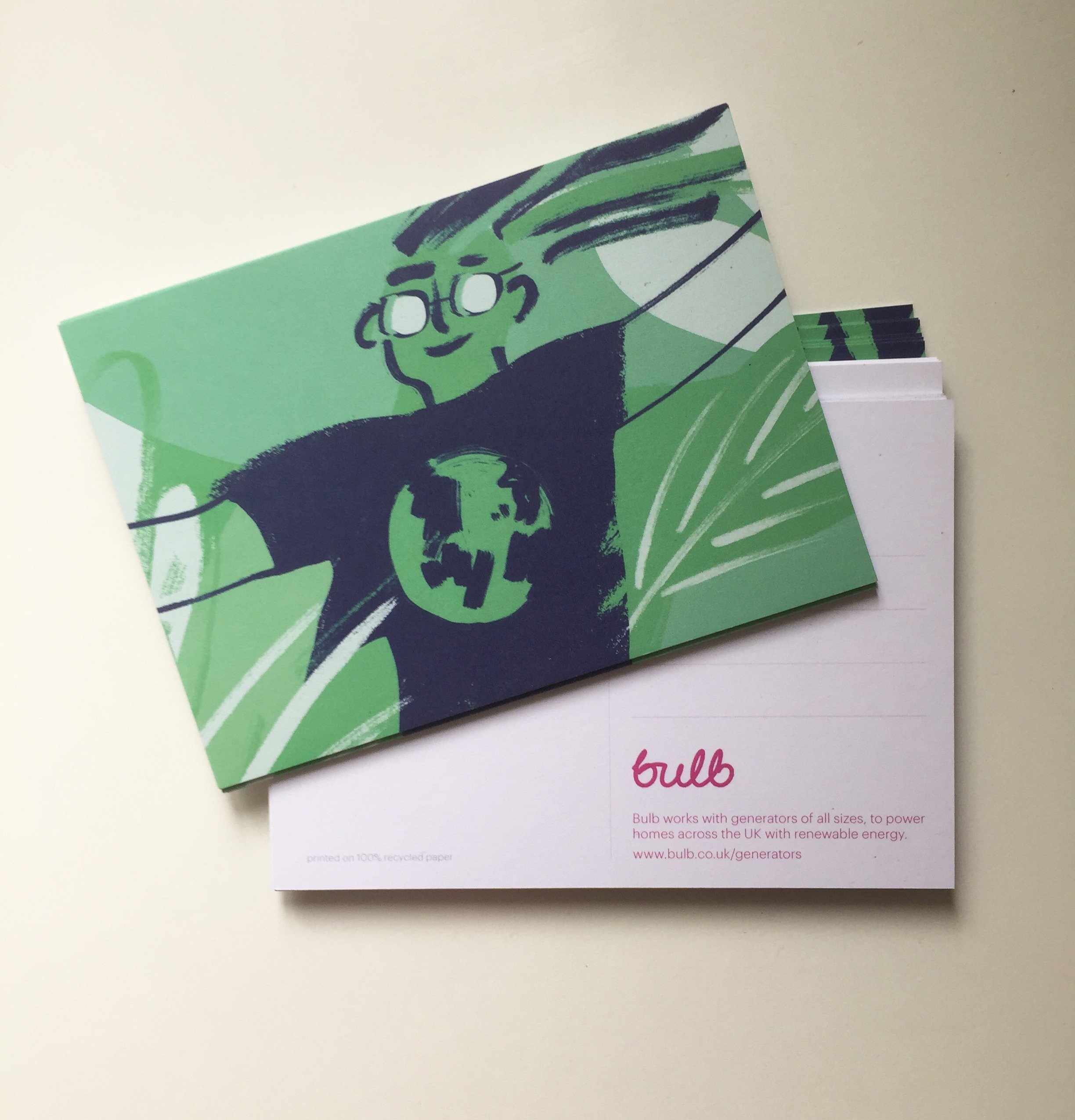 postcards on recycled card printing