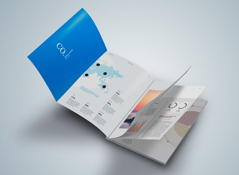 brochure with throw out page